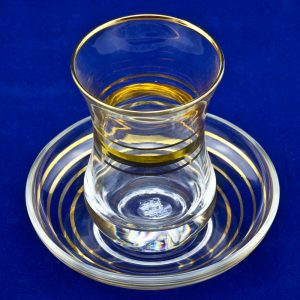 ABKA - チャイグラスセット 金縁 (6個)