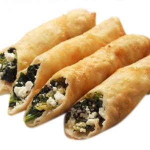 ELIT - ホワイトチーズ&ほうれん草入りシガラボレキ【大】(調理済み)- 10個入り